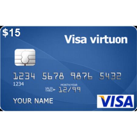 ویزا کارت مجازی 15 دلاری