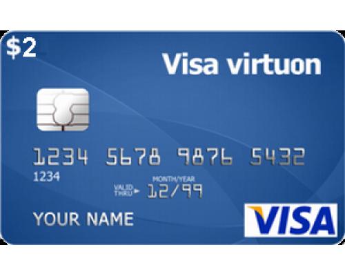 ویزا کارت مجازی 2 دلاری