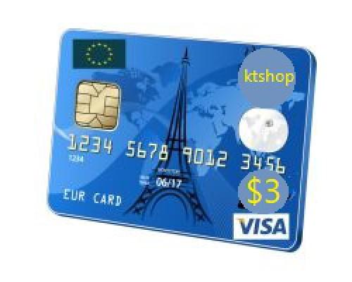 ویزا کارت مجازی 3 دلاری اروپا(پی پال)