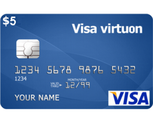 ویزا کارت مجازی 5 دلاری