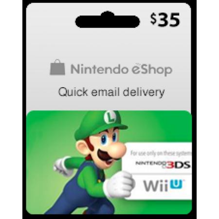 کارت خرید نینتندو 35 دلاری