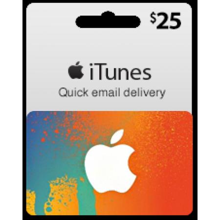 گیفت کارت آیتونز 25 دلاری (usa)