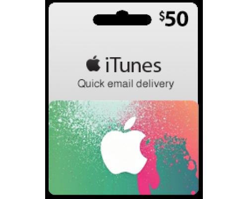 گیفت کارت آیتونز 50 دلاری (usa)