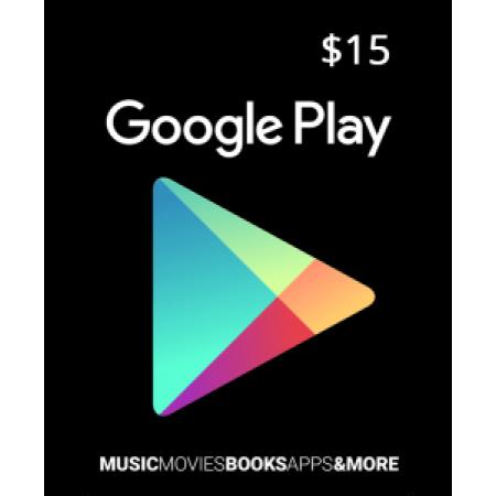 گیفت کارت گوگل پلی ۱۵ دلاری