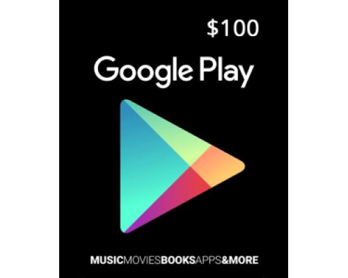 گیفت کارت گوگل پلی 100 دلاری