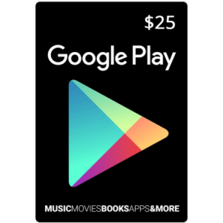 گیفت کارت گوگل پلی 25 دلاری