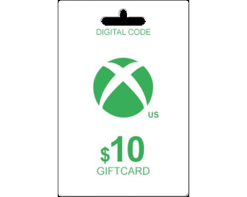 گیفت کارت 10 دلاری  (XBOX LIVE (usa