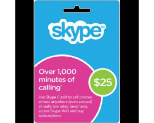 گیفت کارت 25 دلاری اسکایپ
