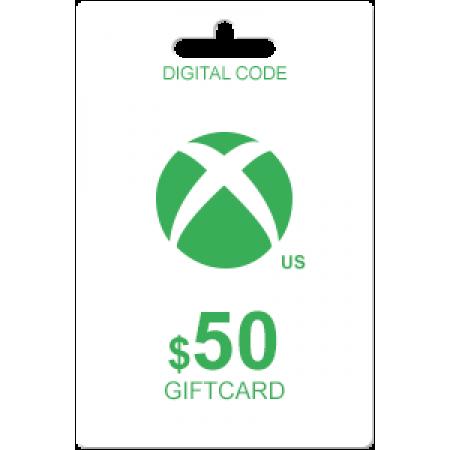 گیفت کارت 50 دلاری  (XBOX LIVE (usa