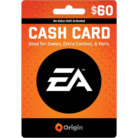 گیفت کارت 60 دلاری (EA Cash Card (US