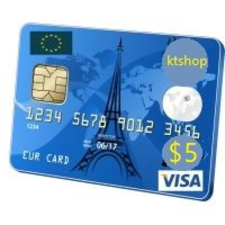 ویزا کارت مجازی  5 دلاری اروپا