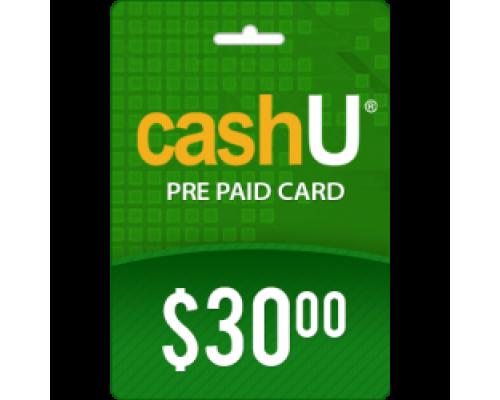 کارت 30 دلاری کش یو CashU
