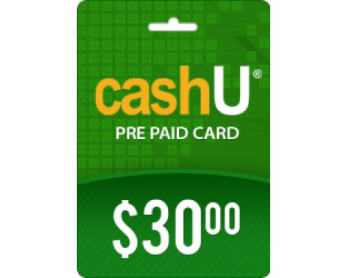 کارت 30 دلاری کش یو CashU(کشورهای عربی)