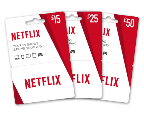 گیفت کارت 15 یورویی نتفلیکس Netflix