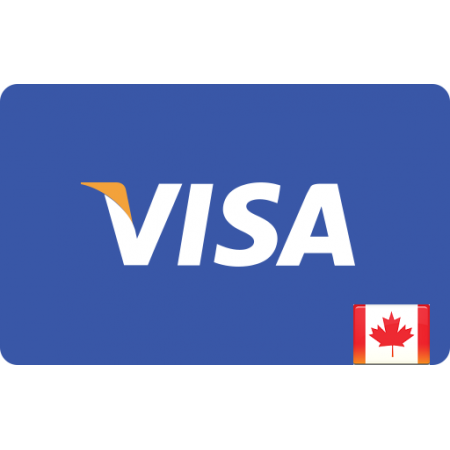 ویزا کارت مجازی(کارت هدیه) 25 دلاری صادره از کانادا