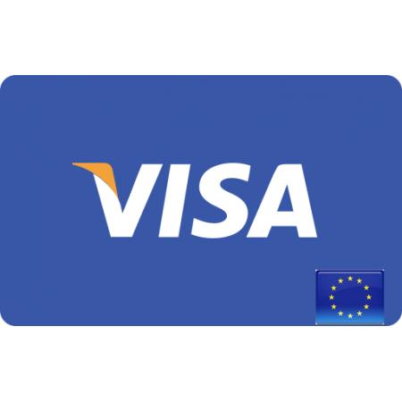 ویزا کارت مجازی  10 یورویی اروپا